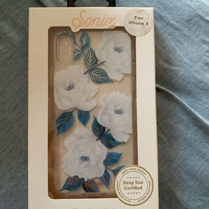 Sonix iPhone X clear floral case new